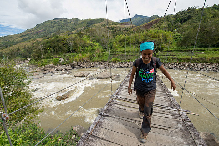 Hanging bridge Baliem Valley